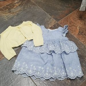 Baby gap sweater and dress combo
